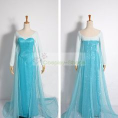 Custom Cheap Frozen Snow Queen Elsa Dress Cosplay Costume In Frozen Elsa For Sale Online- Cosplay-Shops.com