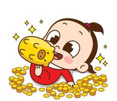 Cute Cartoon Characters, Cartoon Gifs, Cartoon Art, Cute Love Gif, Little Panda, Gif Photo, Happy Birthday Images, Character Design Animation, Baby Dolls