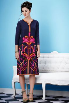 Fabulous Blue Color Designer Kurti