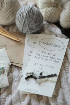 Great ideas with printables and tutorials for a knitting party!!!