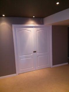 barrhaven basement double doors to bedroom Double Doors, Armoire, Basement, Toms, Bedroom, Furniture, Home Decor, Clothes Stand, Closet
