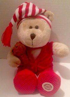Starbucks Bearista Bear Collection 2007 Pajama PJ Christmas Bear 68th ed