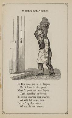 Turfdrager. Uit:Prentenboek: een ijverige hand vindt werk, 1850. Aanvraagnummer: 851998240