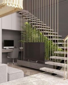 Modern entryway, modern stairs, interior stairs, home interior design Home Stairs Design, Railing Design, Interior Stairs, Modern House Design, Home Interior Design, Stair Design, Modern Stairs Design, Stairs Architecture, Architecture Design