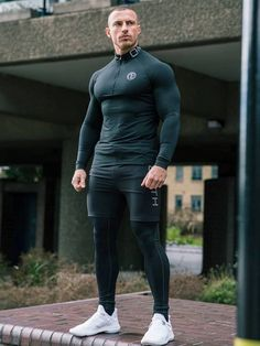 Gym Outfit Men, Estilo Fitness, Mens Tights, Look Man, Tracksuit Set, Gym Style, Sport Style, Hoodie Sweatshirts, Running Costumes
