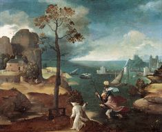 Joachim Patinir, St Christopher Bearing the Christ Child, Rockox House, Antwerp - Joachim Patinir - Wikipedia, the free encyclopedia