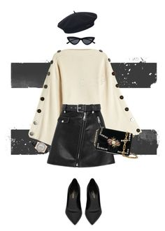 """""""Boina"""" by queenaripicado on Polyvore featuring Petar Petrov, Maje, Yves Saint Laurent, Proenza Schouler, Element and Rolex"""