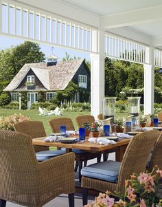 Cullman & Kravis: Country Home in the Hamptons, Outside Dining