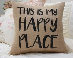 Perfect for your rockers or swings :) We recommend displaying this pillow on a covered porch. Material may change colors if exposed to direct sunlight or elements. Font color shown in Black  Burlap color shown in Natural  SIZE: 14x14  _______________________________________  BURLAP COLOR AND FONT COLOR:  Sorry, this pillow can only be made in Natural Burlap.  Font color can be selected from the last image in the listing. Include your selection in the Notes to seller section at checkout. If…