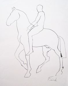 Dame elisabeth frink horse and rider i 1970 1 lithograph on frink elisabeth man on horse ink drawing frink elisabeth fine art prints paintings drawings sculpture uk ccuart Gallery