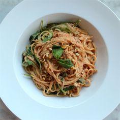 Creamy Vegan Tomato (less) Spaghetti