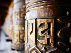 Detail of Prayer Wheels with Tibetan Pali Script, Kagbeni, Nepal. By Anthony Plummer Spirituality Posters, Buddhist Prayer, Framed Art, Wall Art, Tibetan Buddhism, Sale Poster, Coffee Cans, Nepal, Find Art
