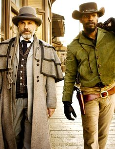Christoph Waltz & Jamie Foxx in Django Unchained (2012) by Quentin Tarantino.