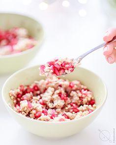 kasza jaglana bezglutenowa z granatem, śniadanie na słodko
