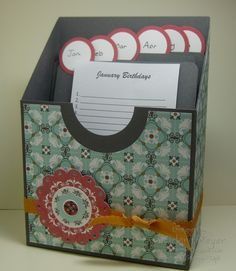 Card Caddy to store and order all your cards ready for sending. Afternoon Daydream Simply Scrapping Kit by Stampin' Up! 3d Paper Crafts, Paper Gifts, Greeting Card Organizer, Card Storage, Organiser Box, Craft Bags, Cool Cards, Scrapbook Cards, Stampin Up Cards