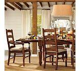 Sumner Table, Buffet & Wynn Chair Set, Rustic Pine stain