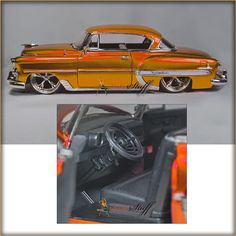 """Jada Toys Bigtime Kustoms - 1953 Chevy Bel Air Hard Top. JADA 1953 CHEVY BEL AIR. Manufactured by Jada Toys. This 1953 Chevrolet Bel-Air is an 8.5""""L x 3""""W x 2.5""""H with openable doors and hood. 1:24 scale diecast collectible model car. 
