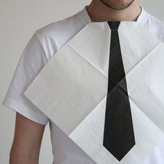 Dress for dinner necktie napkins