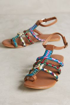 Embroidered Sandals by Deepa Gurnani #anthrofave #anthropologie