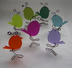 Cute wee bird decorations