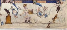 Sprinkling seeds. (The Luttrell Psalter)   http://www.bl.uk/collections/treasures/luttrell/luttrell_broadband.htm