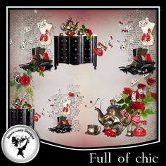 "4 overlays made with my kit ""Full of chic"".     See other products with this series.  PU"