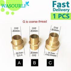 G1/2 3/4 M32 male thread transfer  brass connector shower bathroom kitchen pipe accessories garden connected hose