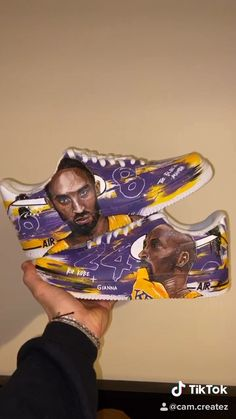 In honour of Kobe's passing I have hand painted these Air Force as a gift. Check my other stuff out on CamCreatez İnstagram Custom Painted Shoes, Custom Design Shoes, Custom Shoes, Kobe Shoes, Nike Air Shoes, Aesthetic Shoes, Aesthetic Clothes, Kobe Bryant Sneakers, Ricky Y Morty