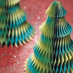 Gorgeous hand-crafted paper trees.