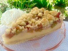 Rhabarber- Pudding- Kuchen mit Streusel