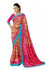 Sasural Women Multi Color Pashmina Silk Designer Saree
