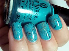 Muggle Manicures Turquoise Nail Tutorial. She made it pretty simple. Going to try this for sure!