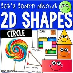 Let's Learn About Shapes is packed with fun, engaging activities that will teach your preschool, pre-k, or kindergarten students the basic shapes and their characteristics. The activities are easy to prep which is less work for you! 2d Shapes Activities, Sorting Activities, Preschool Shapes, Preschool Ideas, Preschool Classroom, Kindergarten, Classroom Games, Classroom Decor, Math Stations