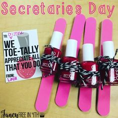 The perfect gift for Teacher Appreciation, Secretaries Day or anything in between. This combines nails, the Target Dollar Spot and a free printable to go with! christmas gifts for teachers Staff Gifts, Volunteer Gifts, Teacher Gifts, Gifts For New Teachers, Teacher Presents, Employee Appreciation Gifts, Teacher Appreciation Week, Volunteer Appreciation, Secretary's Day