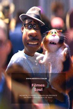 """Aproveitando que as terça-ferias aqui no Blog são dia de assuntos sobre Disney, então vamos falar da estreia exclusiva no sistema de streaming da turma do Mickey, a animação da Pixar, """"Soul"""" Pixar, Disney, Clay, Movies, Movie Posters, Art, Lets Go, Clays, Art Background"""