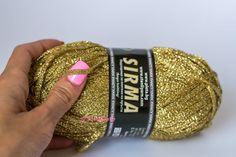 Golden yarn strip yarn Summer Sparkle yarn by ColorificThings