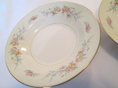 I cant tell if its just lighting or if this pattern came in white AND ivory. Homer Laughlin, Eggshell, Antique China, China Patterns, Plates And Bowls, Georgian, Yellow Flowers, Trays, Spoon