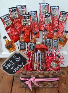 Christmas gift for him: Jack and Jerky Bouquet
