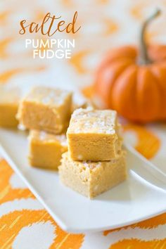 Salted Pumpkin Fudge is SO GOOD! This recipe is easy and delicious!
