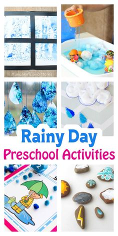 Rain, Rain Go Away… Are you singing the rainy day woes right now? I'm actually pretty thrilled about the rain! We've had snow for so long, that the rain is a happy sight! Bring on spring! But if rain has you and your preschoolers cooped up indoors, I've got a few ideas to get you…