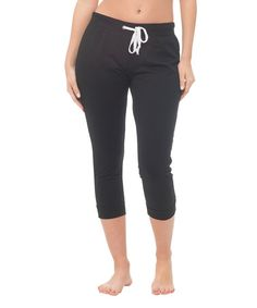 This Black Capri Joggers is perfect! #zulilyfinds