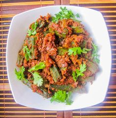 Bhindi Masala is one safe bet recipe. When cooked in Microwave, this preparation becomes very healthy prospect due to minimal usage of oil that goes into this preparation. We can make it more spicy or tangy by altering the quantity of chili powder and dried mango powder (Aamchoor) that are included in the recipe.