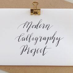 We're kicking off a regular Modern Calligraphy project! Every couple of weeks here we'll give you a theme and invite you to have a go and share your work with #moderncalligraphyproject.  It's open to all! It's a great excuse for regular practice, especially for beginners. Wanna join us? Keep an eye out for the first prompt!