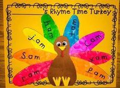 Rhyme Time Turkeys November Bulletin Board - Kindergarten Korner