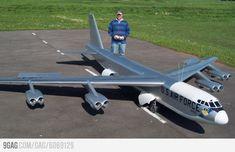 This is a pretty big radio controlled model plane.