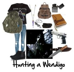 """""""Hunting without Dean and Sam"""" by aj-luh ❤ liked on Polyvore featuring New Look, Aéropostale, Beretta, Jamie Joseph, Wilsons Leather, Pieces, Midsummer Star, Ann Demeulemeester, AX Paris and supernatural"""