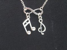 Infinity Music Lover Necklace by BeadedDesignsJacquie on Etsy