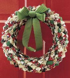 No-Sew Fabric Wreath Craft | Christmas Crafts | No-Sew Crafts � Country Woman Magazine