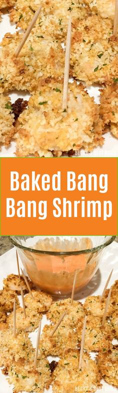 Baked Bang Bang Shrimp is a healthier version of the popular restaurant appetizer. Try this spicy shrimp with a crispy panko breadcrumb crust appetizer recipe for your next game day or party spread! Also great as a main dish for dinner. Pair with a salad and--viola!