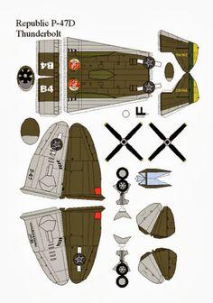 Educar X: Molde de avião de guerra Thunderbolt